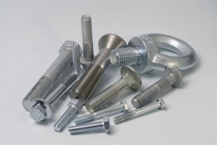 Treated parts for mounting metal structures